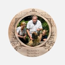 "Personalizable Edwardian Photo Frame 3.5"" Button"