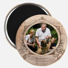 Personalizable Edwardian Photo Frame Magnet