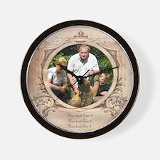 Personalizable Edwardian Photo Frame Wall Clock