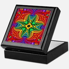 Rainbow Fractal Pattern Keepsake Box