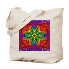 Rainbow Fractal Pattern Tote Bag