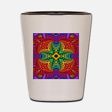 Rainbow Fractal Pattern Shot Glass