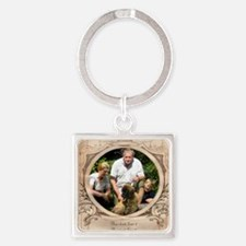 Personalizable Edwardian Photo Frame Square Keycha