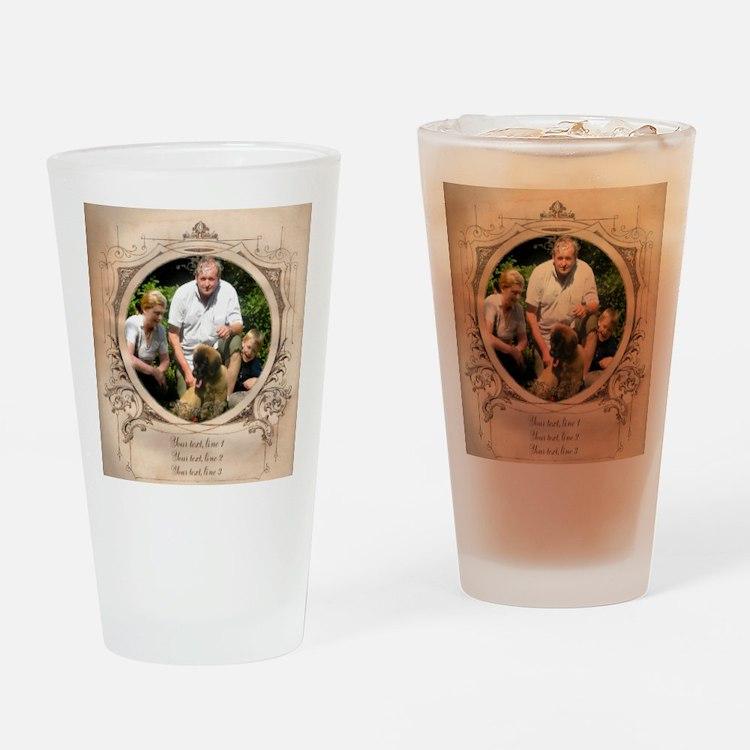 Personalizable Edwardian Photo Frame Drinking Glas
