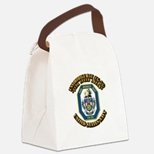 USS Mobile Bay (CG-53) with Text Canvas Lunch Bag