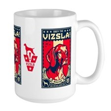 American Vizsla- Obey the V! Propaganda Mugs