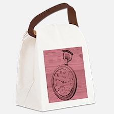 Pocket Watch Canvas Lunch Bag