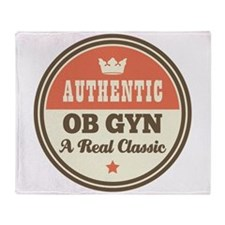 OB GYN Vintage Throw Blanket
