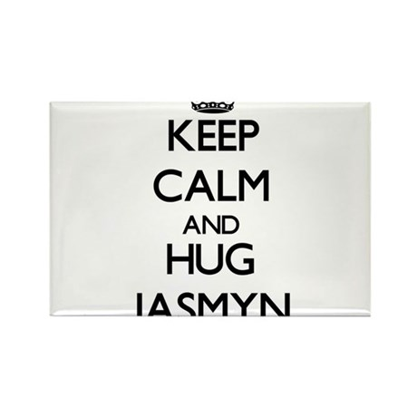 Keep Calm and HUG Jasmyn Magnets