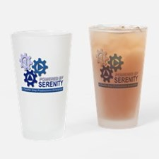 Powered by Serenity Drinking Glass