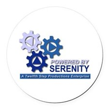 Powered by Serenity Round Car Magnet