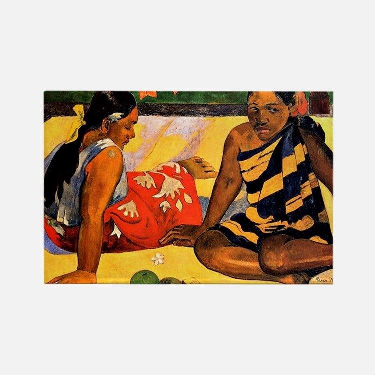 Gauguin - What's New. Painting by Rectangle Magnet