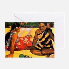 Gauguin - What's New. Painting by Pa Greeting Card
