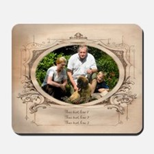 Personalizable Edwardian Photo Frame Mousepad