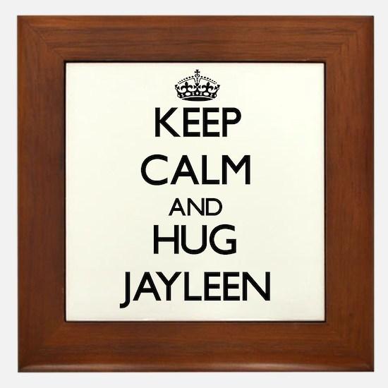 Keep Calm and HUG Jayleen Framed Tile