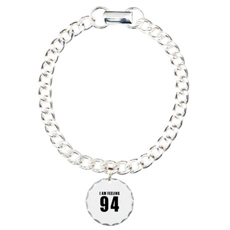 I am feeling 94 Charm Bracelet, One Charm