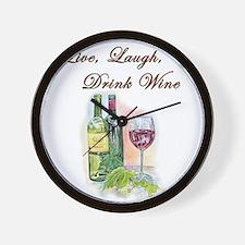Live Laugh Wine Wall Clock