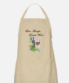 Live Laugh Wine Apron