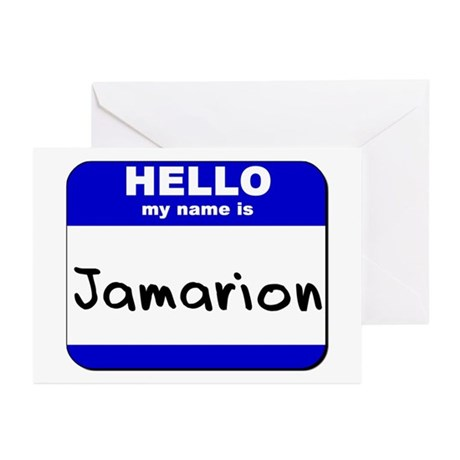 hello my name is jamarion Greeting Cards (Package