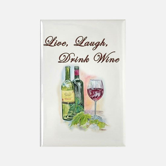 Live Laugh Wine Magnets