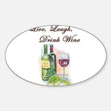 Live Laugh Wine Decal