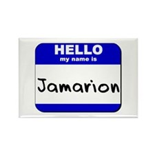 hello my name is jamarion Rectangle Magnet