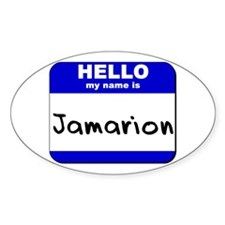 hello my name is jamarion Oval Decal