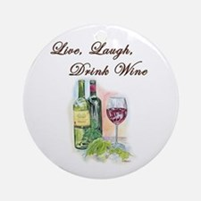 Live Laugh Wine (round) Round Ornament