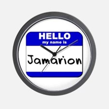 hello my name is jamarion  Wall Clock