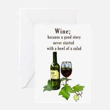 Wine Story Greeting Cards