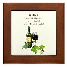 Wine Story Framed Tile