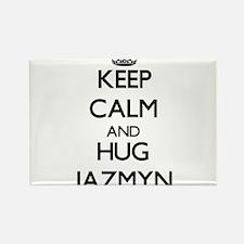 Keep Calm and HUG Jazmyn Magnets