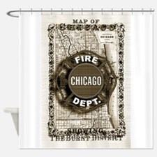 Chicago-20.png Shower Curtain