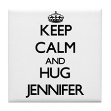 Keep Calm and HUG Jennifer Tile Coaster