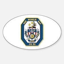 USS Mobile Bay (CG-53) Sticker (Oval)