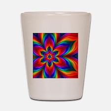 Rainbow Flower Fractal Shot Glass