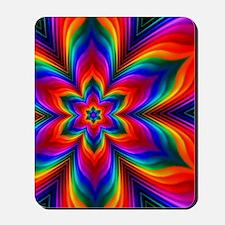 Rainbow Flower Fractal Mousepad
