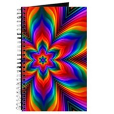 Rainbow Flower Fractal Journal