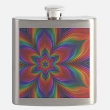 Rainbow Flower Fractal Flask