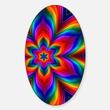 Rainbow Flower Fractal Decal