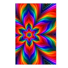 Rainbow Flower Fractal Postcards (Package of 8)