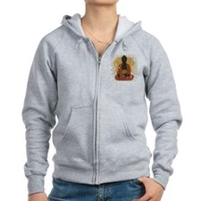 Buddha Meditating With Dharma Wheel Zip Hoody