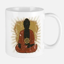 Buddha Meditating With Dharma Wheel Mug