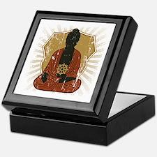 Buddha Meditating With Dharma Wheel Keepsake Box