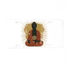 Buddha Meditating With Dharma Wheel Aluminum Licen
