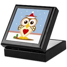 Santa Holiday Owl Keepsake Box