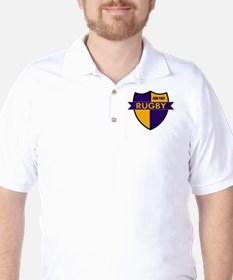 Rugby Shield Purple Gold T-Shirt
