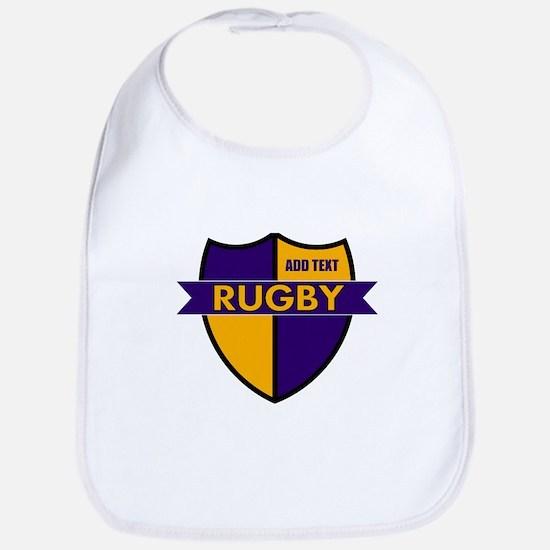 Rugby Shield Purple Gold Bib