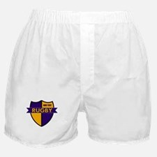 Rugby Shield Purple Gold Boxer Shorts