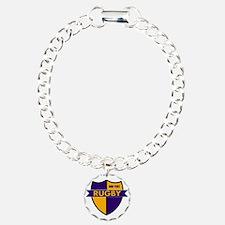Rugby Shield Purple Gold Bracelet